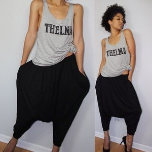 Baggy cropped pants